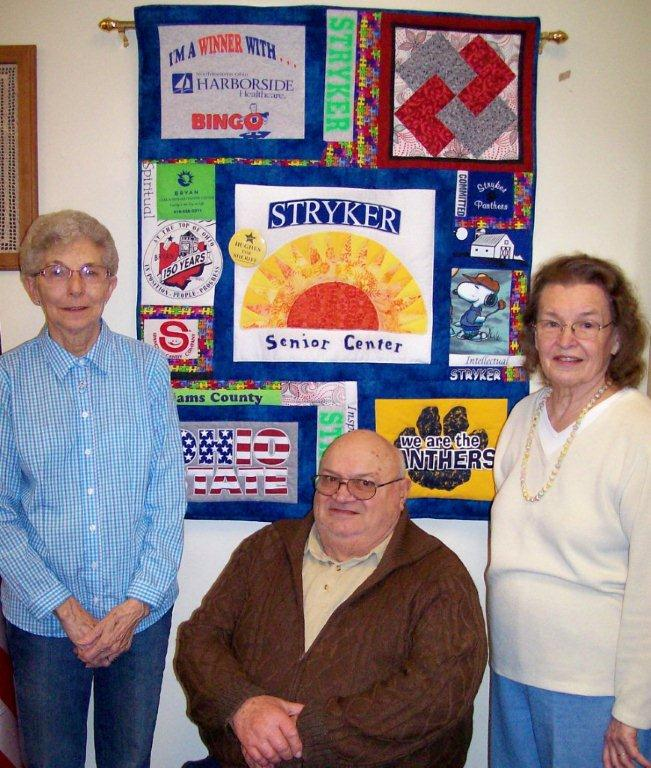 Cara Sobieck, Kenny and Helen Bell with Quilt the Bells daughter made